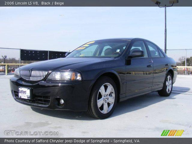black 2006 lincoln ls v8 beige interior vehicle archive 25063231. Black Bedroom Furniture Sets. Home Design Ideas