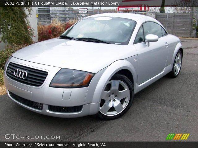 lake silver metallic 2002 audi tt 1 8t quattro coupe ebony interior vehicle. Black Bedroom Furniture Sets. Home Design Ideas
