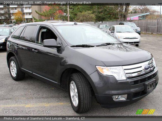 Pewter Metallic 2007 Ford Edge Sel Awd Charcoal Black Interior Vehicle