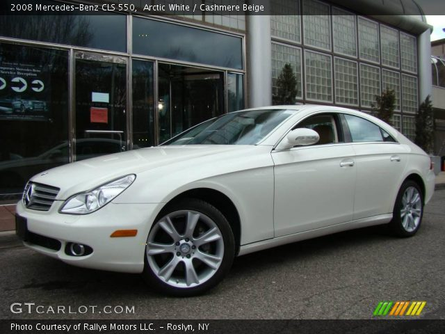 arctic white 2008 mercedes benz cls 550 cashmere beige interior vehicle. Black Bedroom Furniture Sets. Home Design Ideas