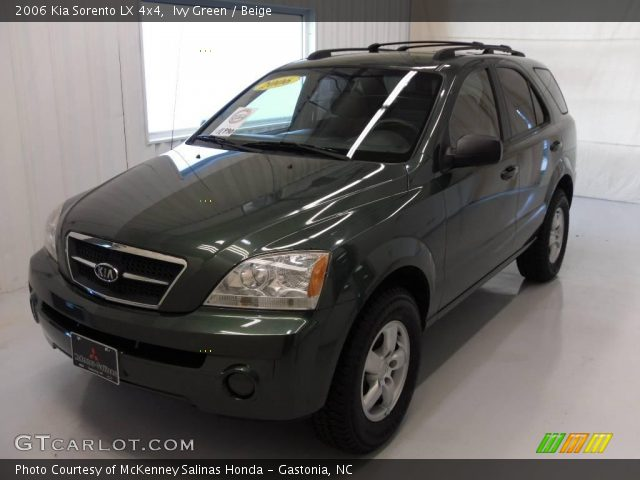 ivy green 2006 kia sorento lx 4x4 beige interior. Black Bedroom Furniture Sets. Home Design Ideas