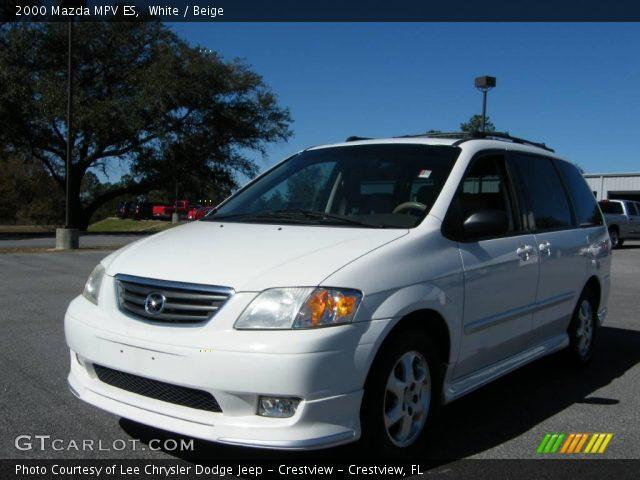 2000 Mazda MPV ES in White