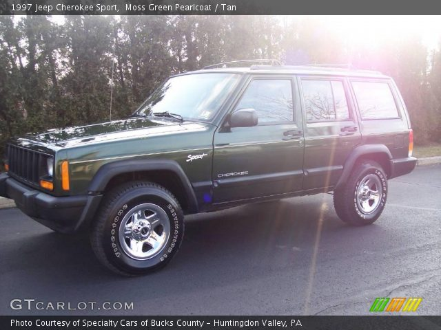 moss green pearlcoat 1997 jeep cherokee sport tan interior vehicle archive. Black Bedroom Furniture Sets. Home Design Ideas
