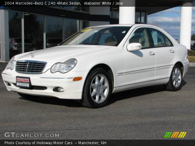 alabaster white 2004 mercedes benz c 240 4matic sedan java interior vehicle. Black Bedroom Furniture Sets. Home Design Ideas