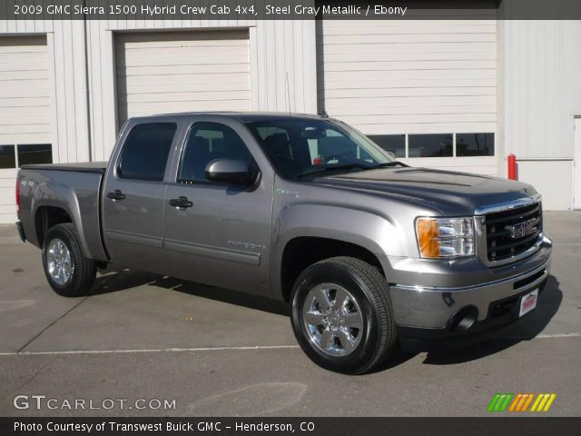 2009 Gmc Sierra 1500 Hybrid Crew Cab 4x4 In Steel Gray Metallic