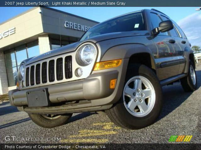 Light Khaki Metallic 2007 Jeep Liberty Sport Medium Slate Gray Interior