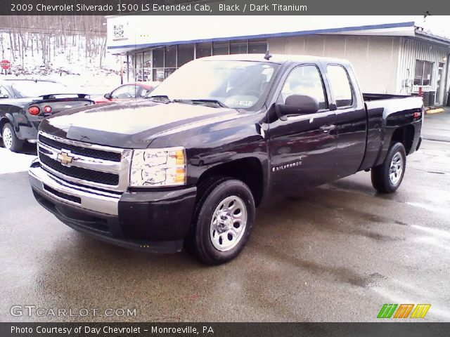 black 2009 chevrolet silverado 1500 ls extended cab dark titanium interior. Black Bedroom Furniture Sets. Home Design Ideas