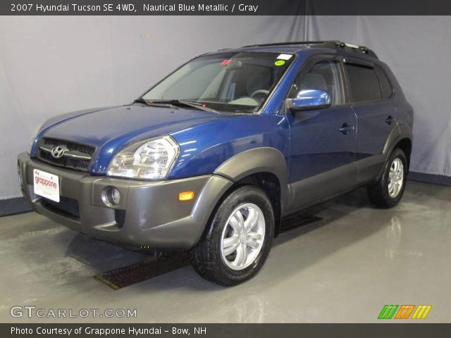 nautical blue metallic 2007 hyundai tucson se 4wd gray. Black Bedroom Furniture Sets. Home Design Ideas