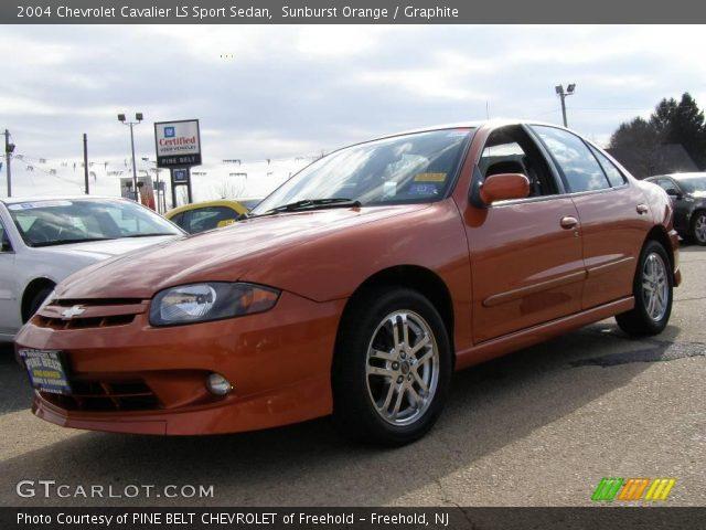 sunburst orange 2004 chevrolet cavalier ls sport sedan graphite interior. Black Bedroom Furniture Sets. Home Design Ideas