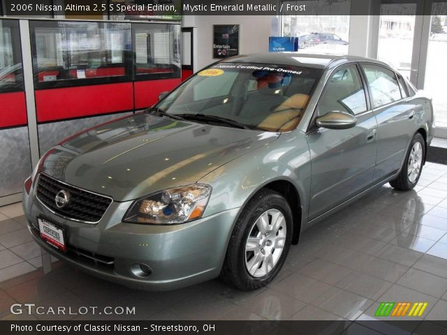 mystic emerald metallic 2006 nissan altima 2 5 s special. Black Bedroom Furniture Sets. Home Design Ideas