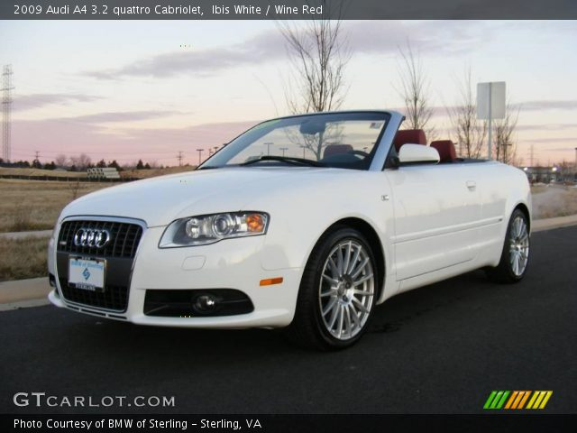 ibis white 2009 audi a4 3 2 quattro cabriolet wine red. Black Bedroom Furniture Sets. Home Design Ideas
