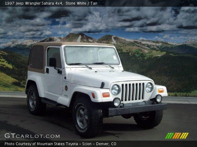 Stone White 1997 Jeep Wrangler Sahara 4x4 Tan Interior
