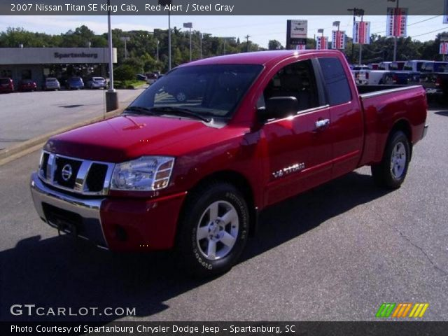 red alert 2007 nissan titan se king cab steel gray interior vehicle archive. Black Bedroom Furniture Sets. Home Design Ideas
