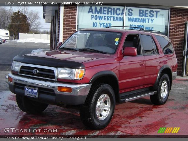 sunfire red pearl 1996 toyota 4runner sr5 4x4 gray interior vehicle archive. Black Bedroom Furniture Sets. Home Design Ideas