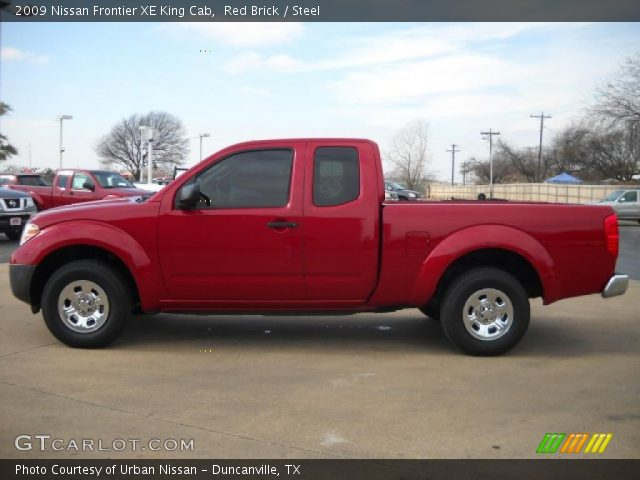 red brick 2009 nissan frontier xe king cab steel interior vehicle archive. Black Bedroom Furniture Sets. Home Design Ideas