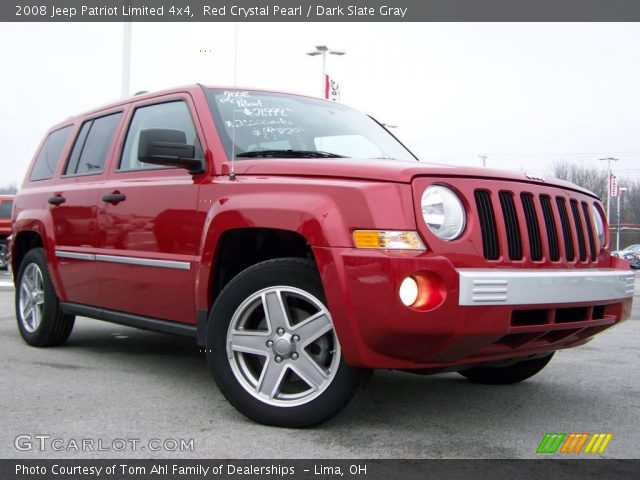 red crystal pearl 2008 jeep patriot limited 4x4 dark. Black Bedroom Furniture Sets. Home Design Ideas