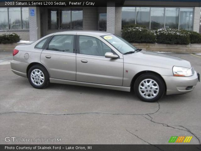 pewter 2003 saturn l series l200 sedan gray interior vehicle archive 25581060. Black Bedroom Furniture Sets. Home Design Ideas