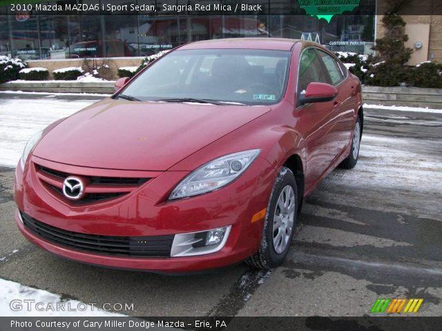 Mazda 6 2010 Red. Sangria Red Mica 2010 Mazda MAZDA6 i Sport Sedan with Black interior 2010 Mazda MAZDA6 i Sport Sedan in Sangria Red Mica