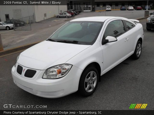 Summit White 2009 Pontiac G5 Ebony Interior Gtcarlot