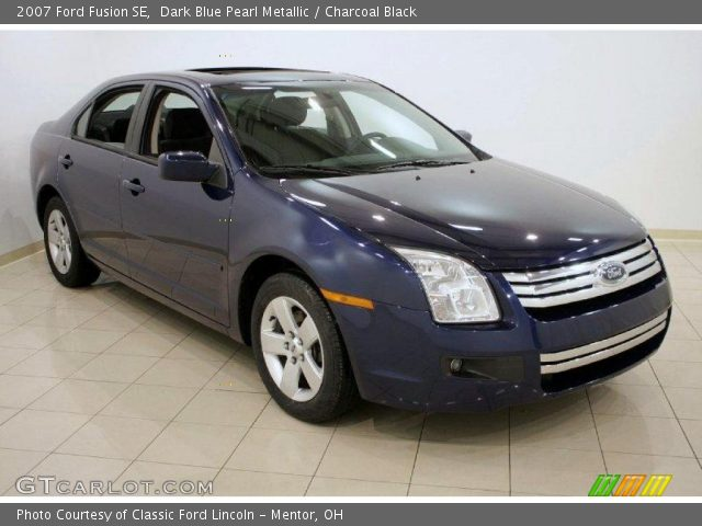 dark blue pearl metallic 2007 ford fusion se charcoal. Black Bedroom Furniture Sets. Home Design Ideas
