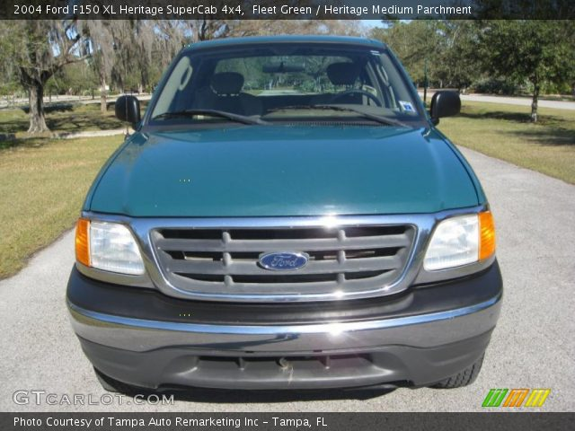 2004 Ford F150 XL Heritage SuperCab 4x4 in Fleet Green