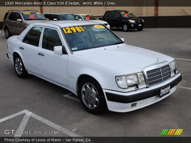 Arctic white 1993 mercedes benz e class 500 e sedan for 1993 mercedes benz 500 class