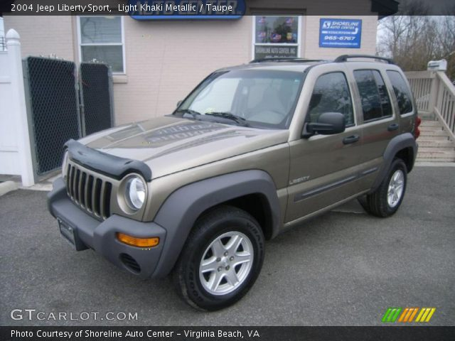 light khaki metallic 2004 jeep liberty sport taupe