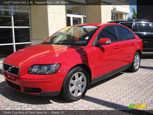 passion red 2007 volvo s40 off black interior. Black Bedroom Furniture Sets. Home Design Ideas