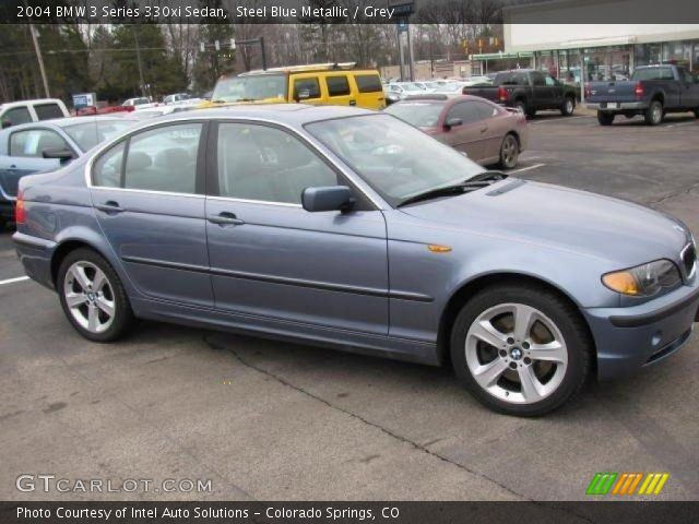 steel blue metallic 2004 bmw 3 series 330xi sedan grey. Black Bedroom Furniture Sets. Home Design Ideas