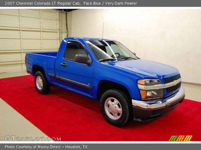 pace blue 2007 chevrolet colorado lt regular cab very dark pewter interior. Black Bedroom Furniture Sets. Home Design Ideas
