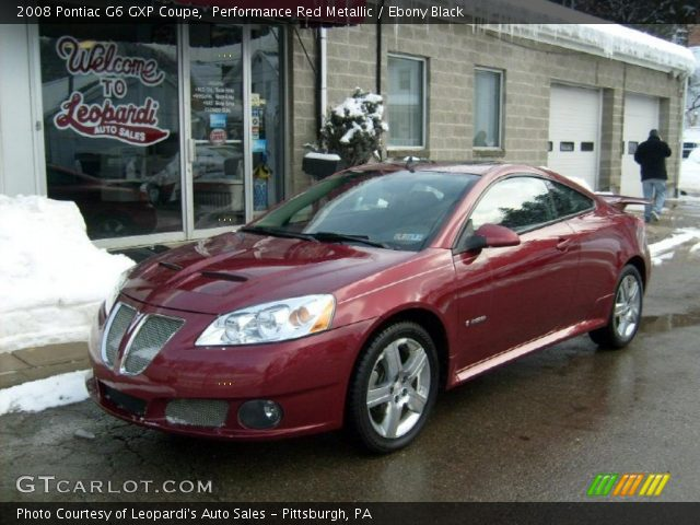 performance red metallic 2008 pontiac g6 gxp coupe. Black Bedroom Furniture Sets. Home Design Ideas