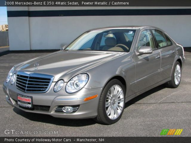 pewter metallic 2008 mercedes benz e 350 4matic sedan. Black Bedroom Furniture Sets. Home Design Ideas