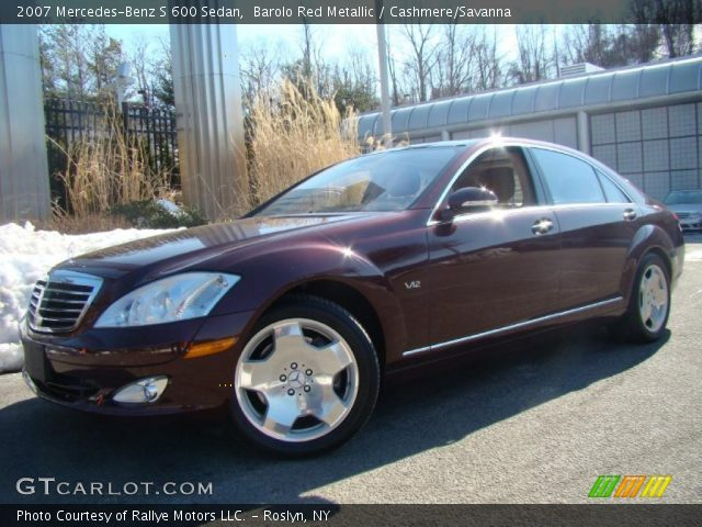 2007 Mercedes-Benz S 600 Sedan in Barolo Red Metallic