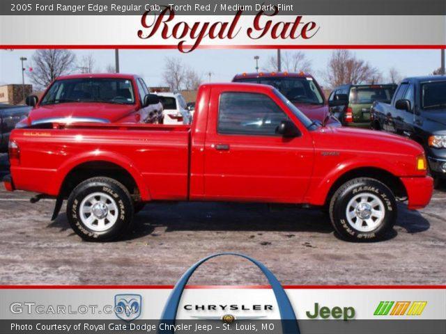 torch red 2005 ford ranger edge regular cab medium dark flint interior. Black Bedroom Furniture Sets. Home Design Ideas