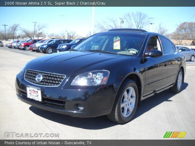 super black 2006 nissan altima 2 5 sl charcoal gray interior vehicle. Black Bedroom Furniture Sets. Home Design Ideas
