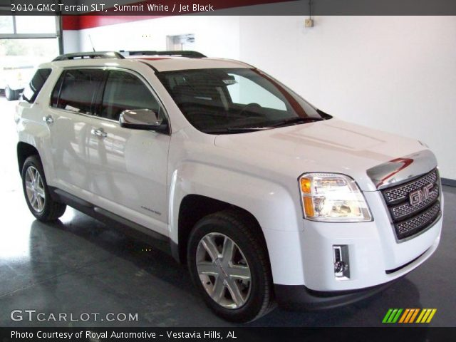 Summit White 2010 GMC Terrain SLT with Jet Black interior 2010 GMC Terrain