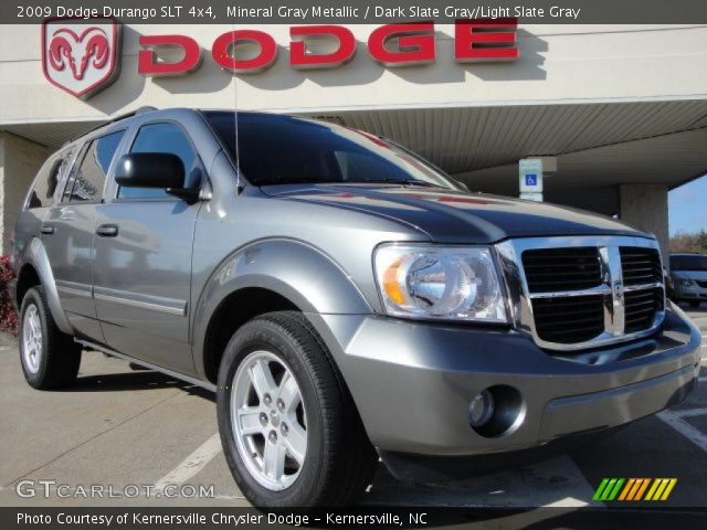 mineral gray metallic 2009 dodge durango slt 4x4 dark. Black Bedroom Furniture Sets. Home Design Ideas