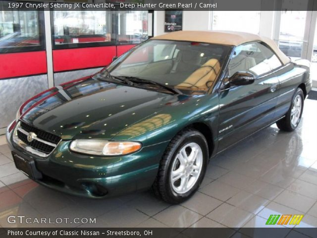 deep hunter green pearl 1997 chrysler sebring jx. Cars Review. Best American Auto & Cars Review