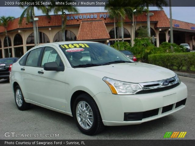white suede 2009 ford focus se sedan medium stone. Black Bedroom Furniture Sets. Home Design Ideas