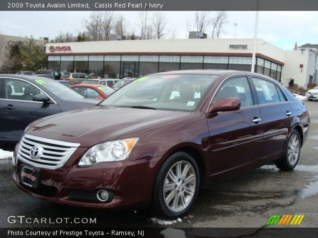 cassis red pearl 2009 toyota avalon limited ivory interior vehicle archive. Black Bedroom Furniture Sets. Home Design Ideas