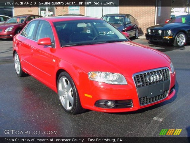 brilliant red 2007 audi a4 2 0t s line quattro sedan. Black Bedroom Furniture Sets. Home Design Ideas