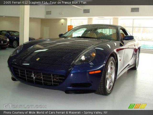 2005 Ferrari 612 Scaglietti F1A in Tour de France Blue. Click to see ...