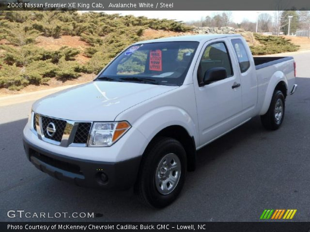 avalanche white 2008 nissan frontier xe king cab steel. Black Bedroom Furniture Sets. Home Design Ideas