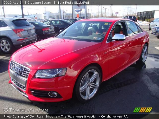2010 Audi S4 Interior. Brilliant Red 2010 Audi S4 3.0