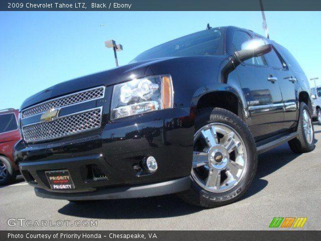Black 2009 Chevrolet Tahoe Ltz Ebony Interior Vehicle Archive 26177390