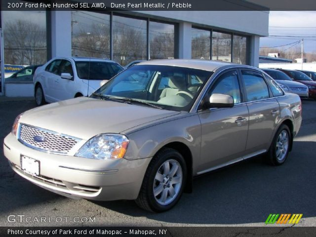 dune pearl metallic 2007 ford five hundred sel awd pebble interior gtca. Cars Review. Best American Auto & Cars Review