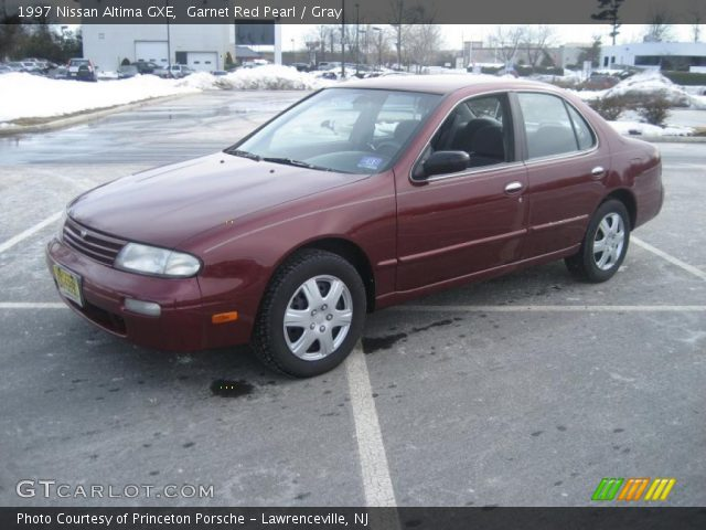 Garnet Red Pearl 1997 Nissan Altima Gxe Gray Interior