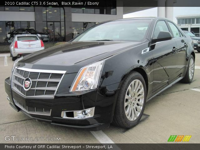 black raven 2010 cadillac cts 3 6 sedan ebony interior. Black Bedroom Furniture Sets. Home Design Ideas