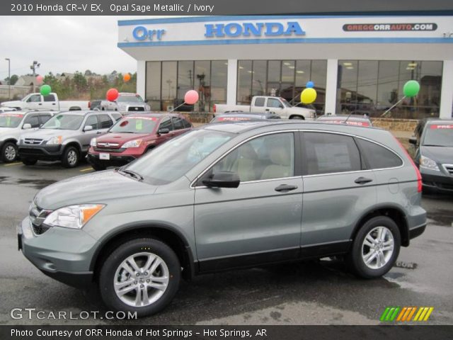2010 Honda CR-V EX in Opal Sage Metallic