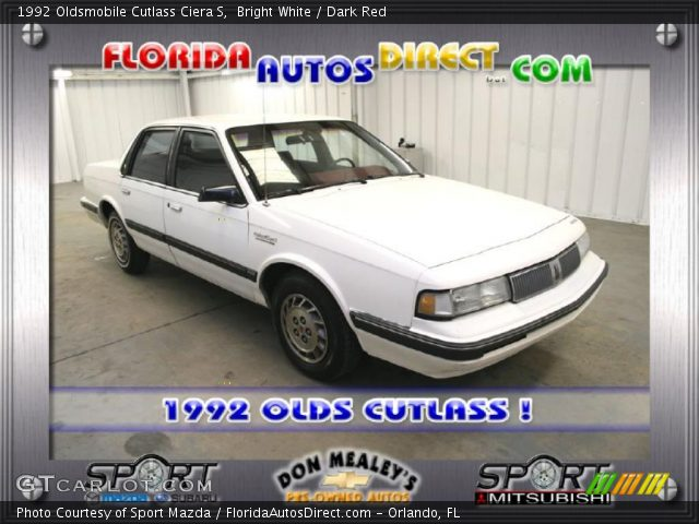 Oldsmobile Cutlass Ciera 1992. Bright White 1992 Oldsmobile